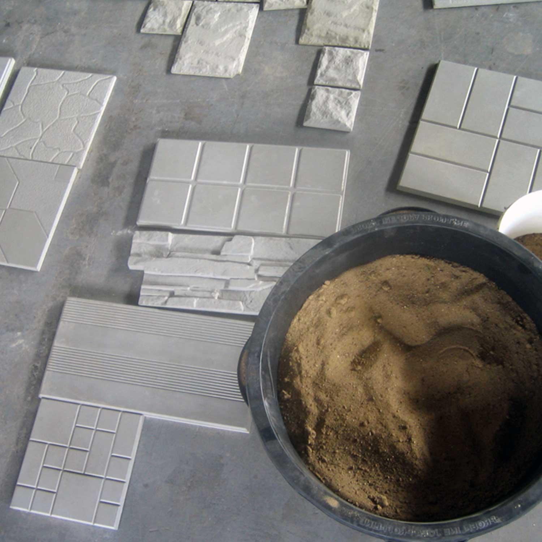 Betonformen, Schalungsformen, Gießformen, Farb- Pigmente und Zusatzmittel zur Herstellung von Beton Platten
