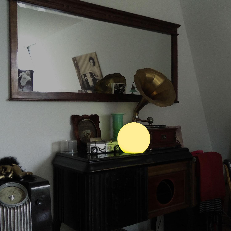 Dekorative Lichtakzente mit LED Kugellampe, Kugelleuchte im Haus