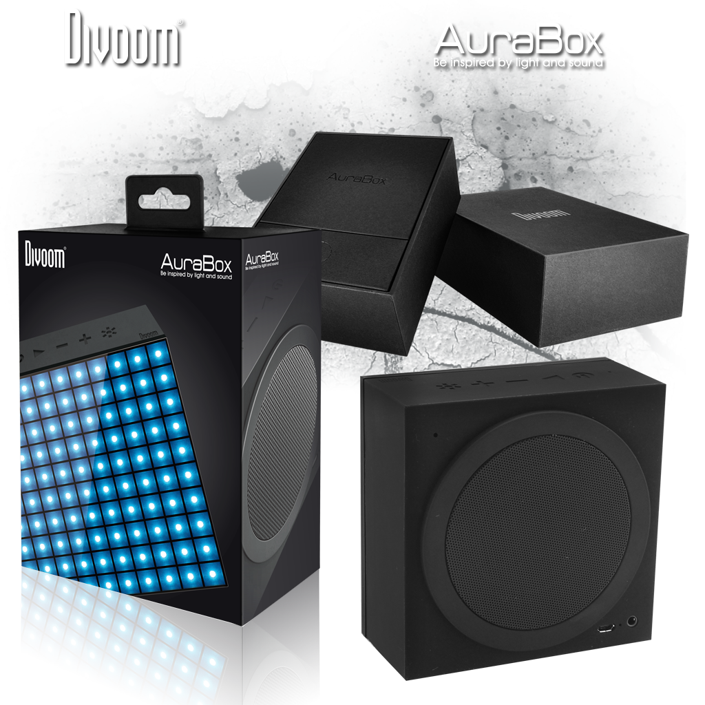 Divoom AuraBox, Bluetooth Lautsprecher mit Animation