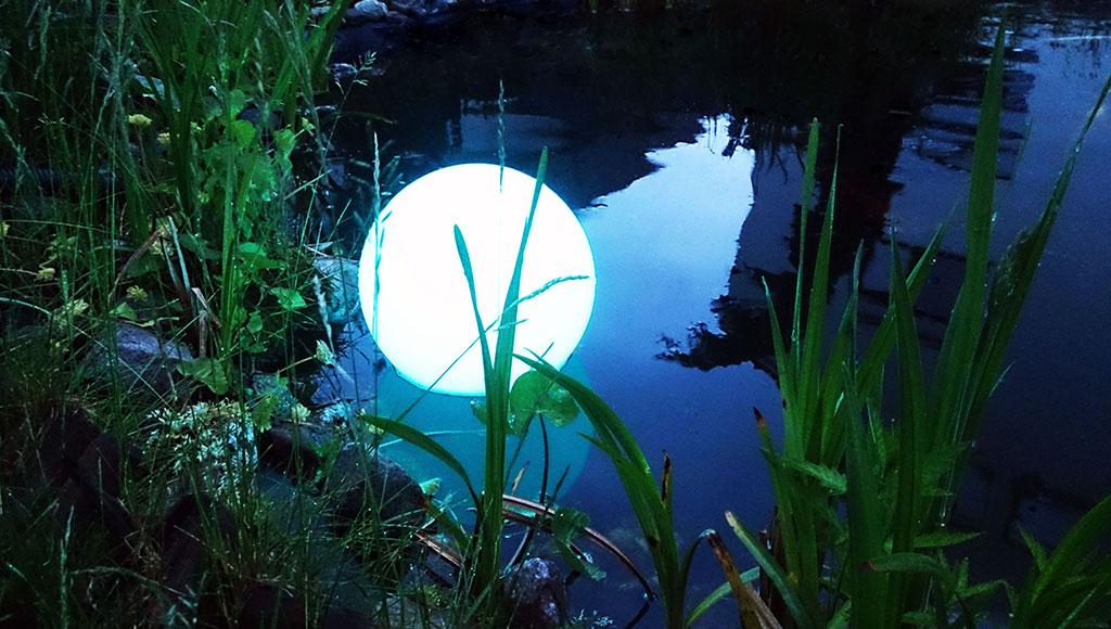 LED Schwimmlampe, Kugelleuchte als Ball