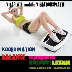 Vitaplate- mobile Vibrationsplatte für Vibrationstraining