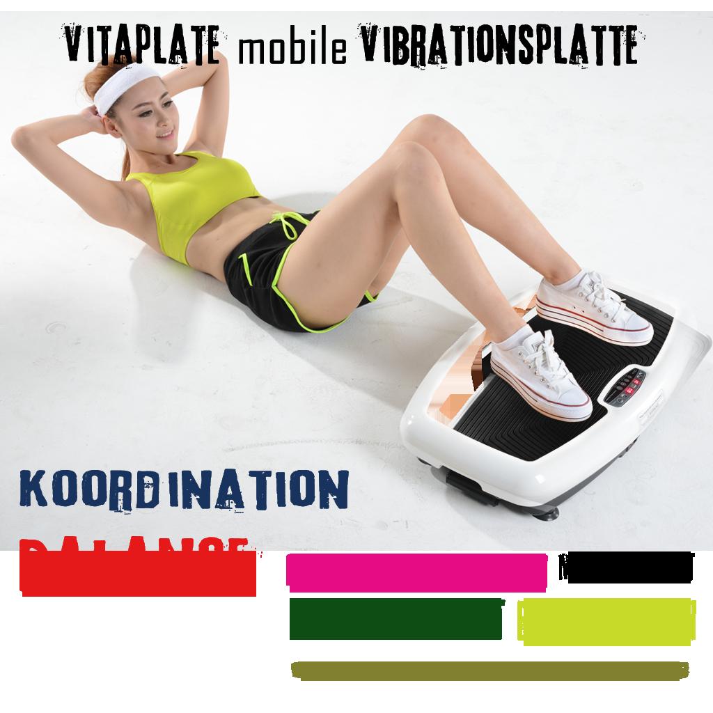 Stehen Sie auf der Vibrationsplatte, so werden durch die Stimulation des gesamten Körpers fast 100% Ihrer Muskelfasern aktiviert.