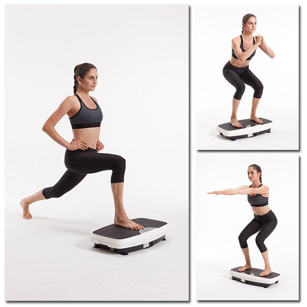 Vibrationsplatte - Einzelfuß-Haltung & Hockerposition