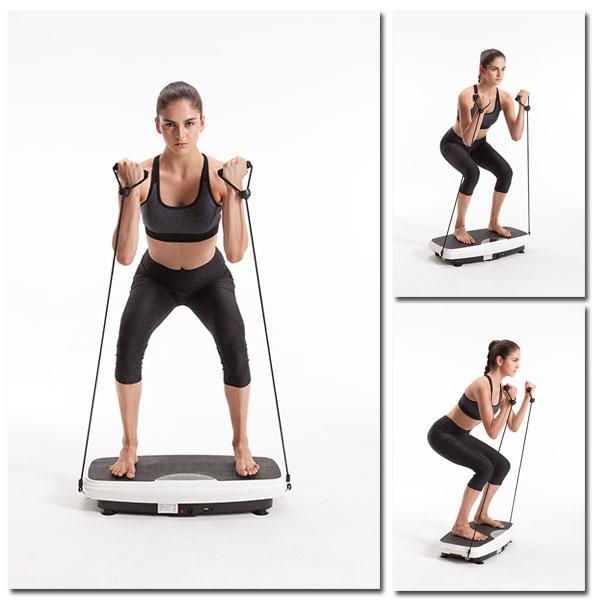 Vibrationsplatte - Übungen, Hockerhaltung & Gebeugte Haltung