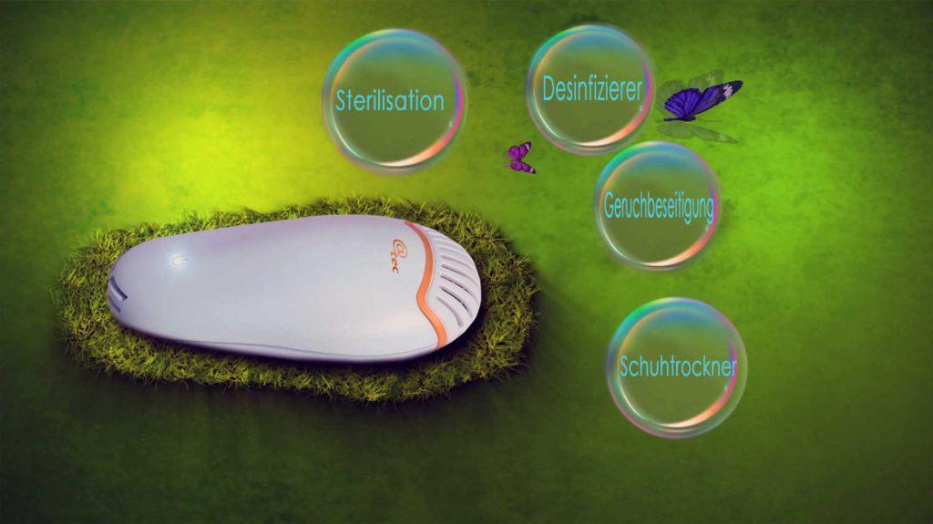 Ozon -Schuh-Desinfizierer - Geruchsneutralisierer - Entfeuchter
