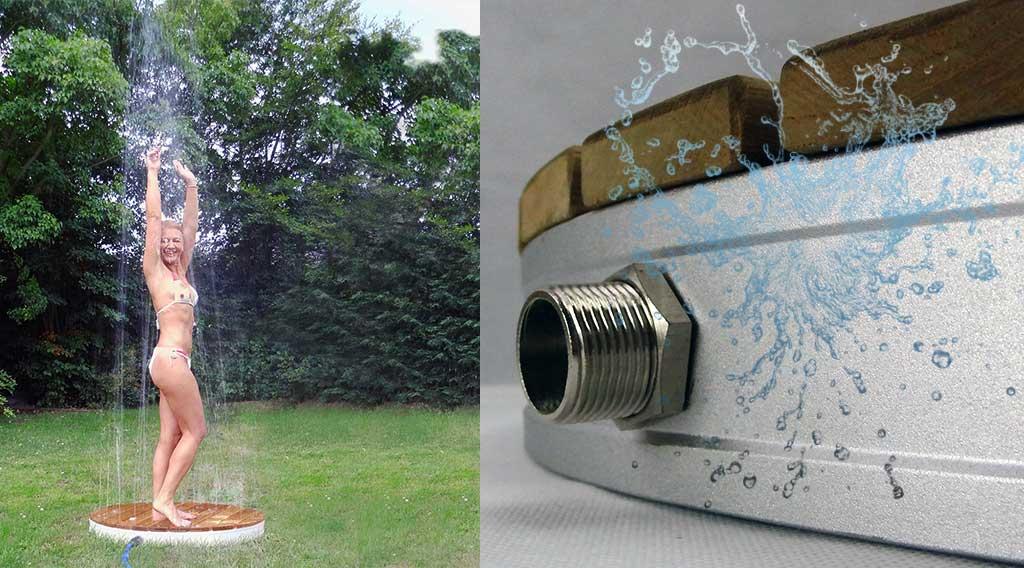 Tec outdoor bodendusche gartendusche f r sommerspa for Gartendusche bodenplatte