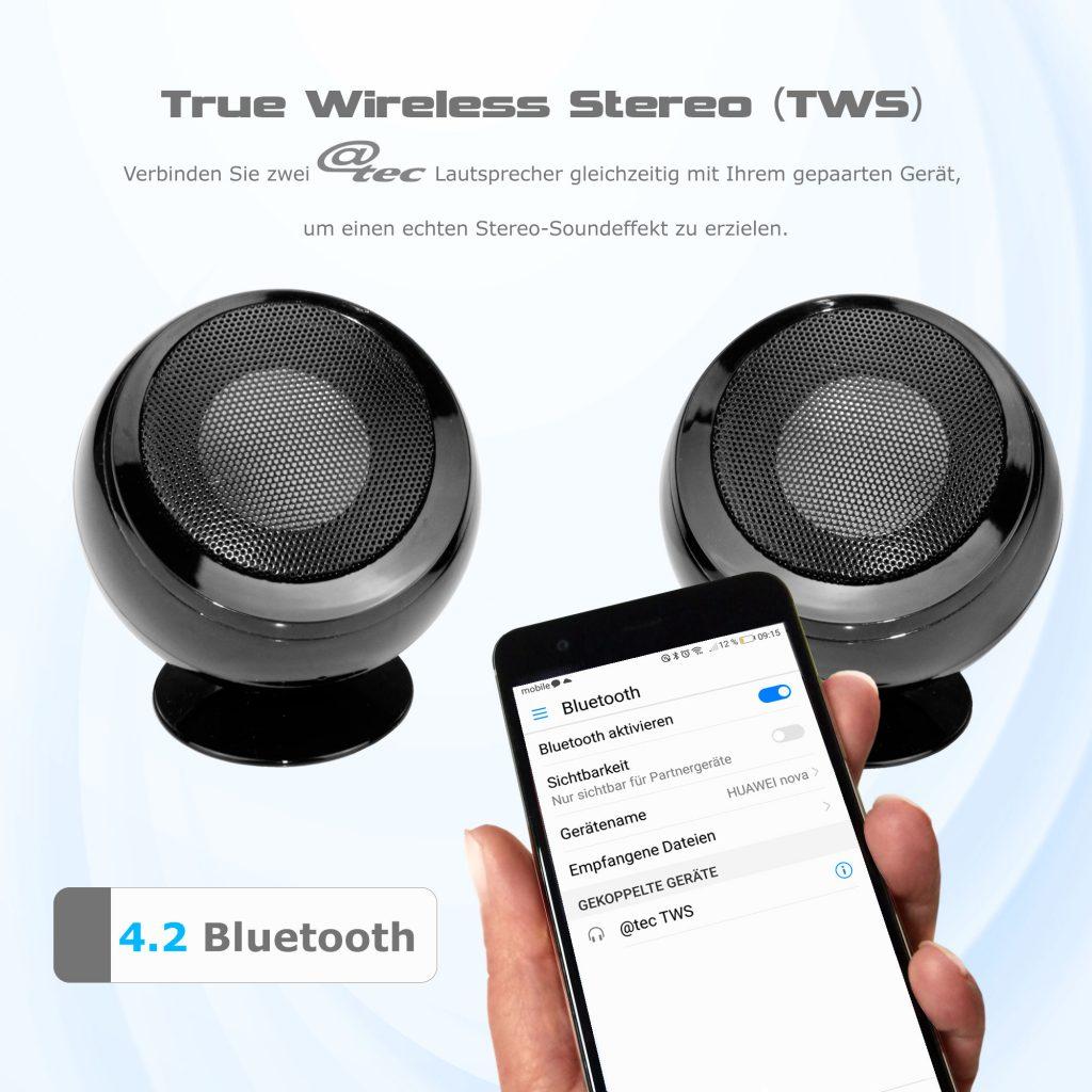 @tec TWS Bluetooth Stereo Lautsprecher, arcotec